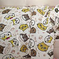 Полуторный комплект постельного белья 150/220 с детским рисунком,одна нав-ка 70/70,ткань сатин 100% хлопок