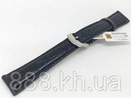 Ремешок для наручных часов кожаный Hightone HT-298 с классической застежкой, черный, 18x140 мм