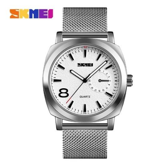 Skmei 1466S серебряные мужские стальные часы