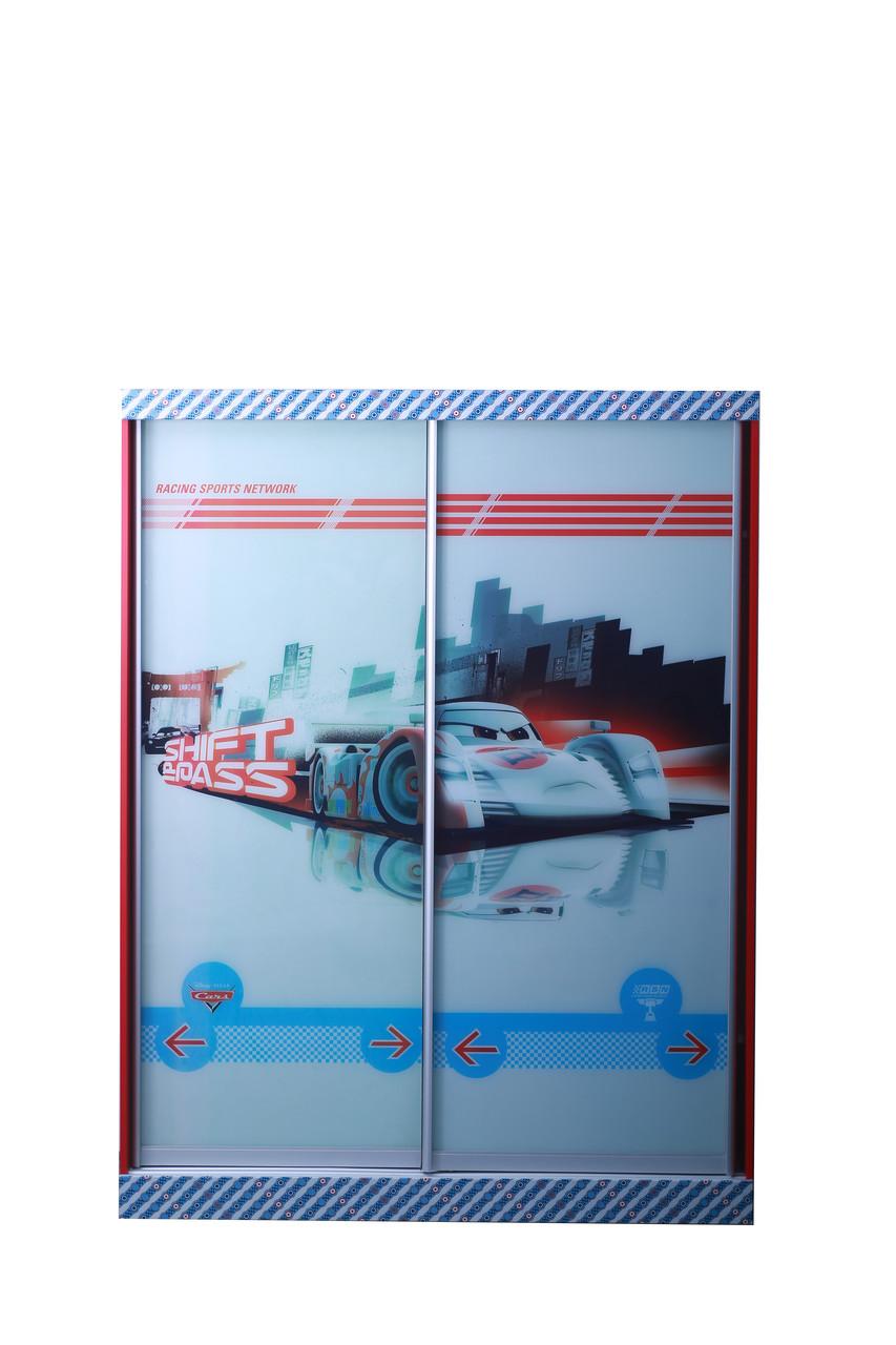 Шкаф-купе 2-х дверный Тачки Дизайн Дисней Сю Тодороки гонки (AMF-ТМ)