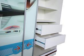 Шкаф-купе 2-х дверный Тачки Дизайн Дисней Сю Тодороки гонки (AMF-ТМ), фото 2