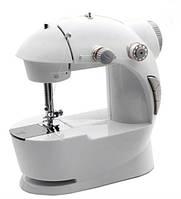 Швейная машинка портативная Mini Sewing Machine FHSM 201 с адаптером серая