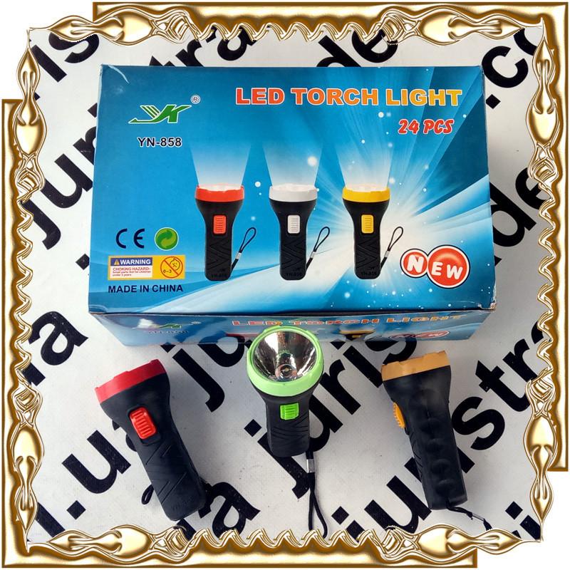 Фонарик Led Torch Light (1 led.) на батар. 1*R06(AA) 1.5V YN-858 24 шт./уп.