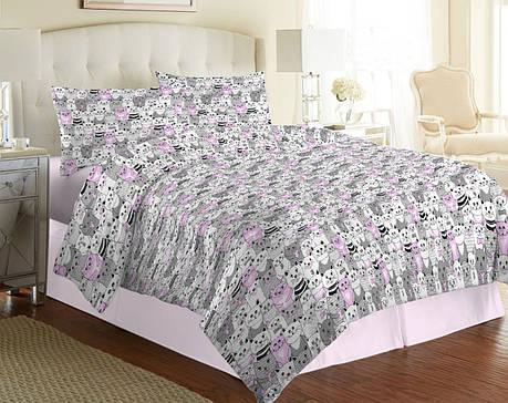 Ткань для постельного белья Бязь Gold Lux D42N9 Pink 50м+50м А+В, фото 2