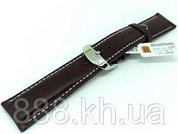 Ремешок для наручных часов кожаный Hightone HT-337 с классической застежкой, коричевый, 20x180 мм