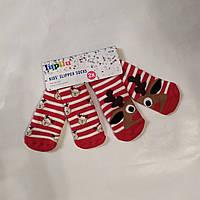Детские новогодние красные носки махровые антискользящие Lupilu (Германия) р. 23/26, фото 1