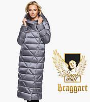 Воздуховик Braggart Angel's Fluff 31058   Зимняя женская куртка жемчужно-серая