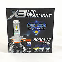 LED Лампы X3 Philips 50W (H11) (ЛЭД автолампы с активным охлаждением и ip67)+ПОДАРОК!, фото 5