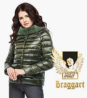 Воздуховик Braggart Angel's Fluff 40267 | Женская куртка осень-весна цвет темный хаки