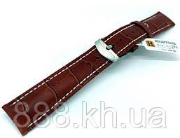 Ремешок для наручных часов кожаный Hightone HT-293 с классической застежкой, коричневый, 18x160 мм