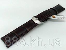 Ремешок для наручных часов кожаный Hightone HT-324 с классической застежкой, коричневый, 19x160 мм