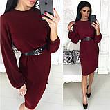 Жіноче плаття міді з поясом АА/-1212 - Чорний, фото 2