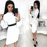Жіноче плаття міді з поясом АА/-1212 - Чорний, фото 4