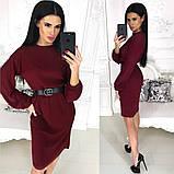 Жіноче плаття міді з поясом АА/-1212 - Чорний, фото 5