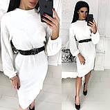 Жіноче плаття міді з поясом АА/-1212 - Чорний, фото 6
