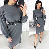 Жіноче плаття міді з поясом АА/-1212 - Чорний, фото 7