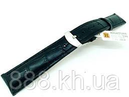 Ремешок для наручных часов кожаный Hightone HT-290 с классической застежкой, черный, 18x160 мм