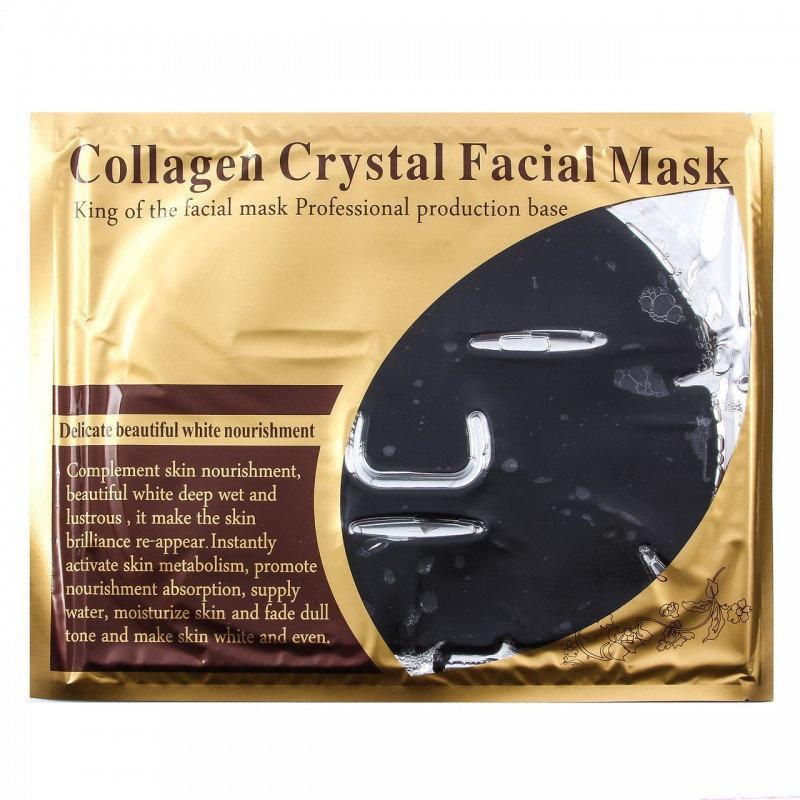 Коллагеновая увлажняющая черная маска для лица Crystal, 1 шт
