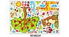 Интерьерная виниловая наклейка в детскую комнату на стену Зверята под деревом с яблоками звери, фото 3
