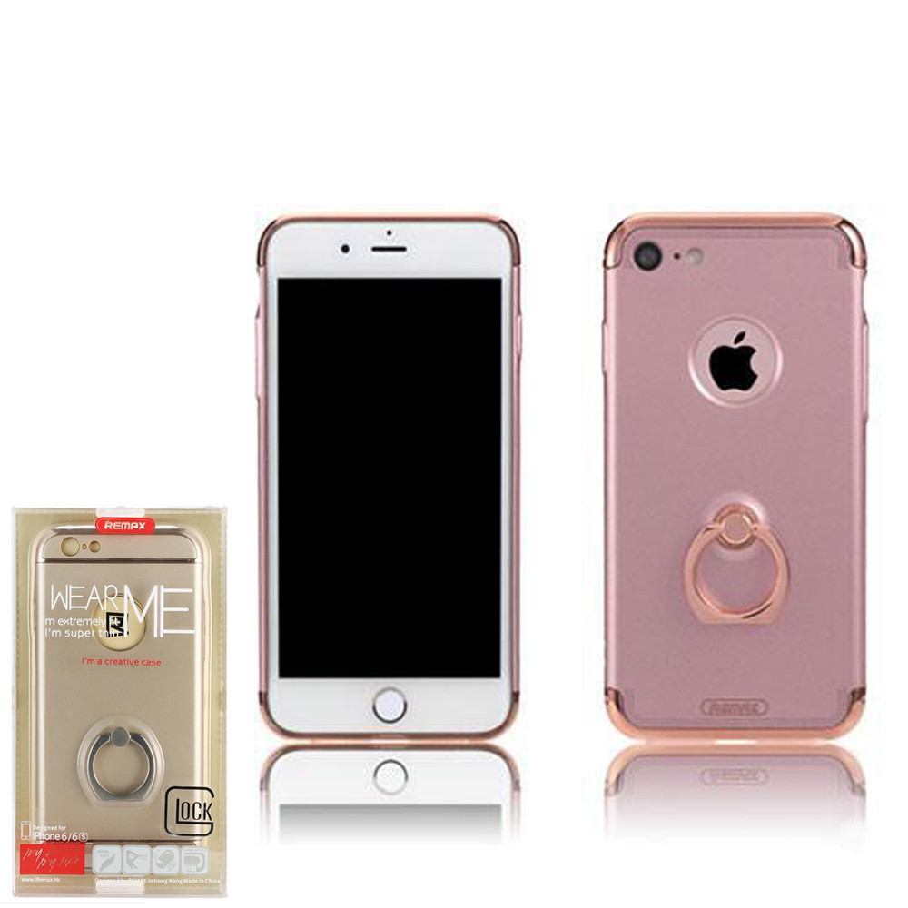 Чехол Remax Lock with Ring iPhone 7  Pink