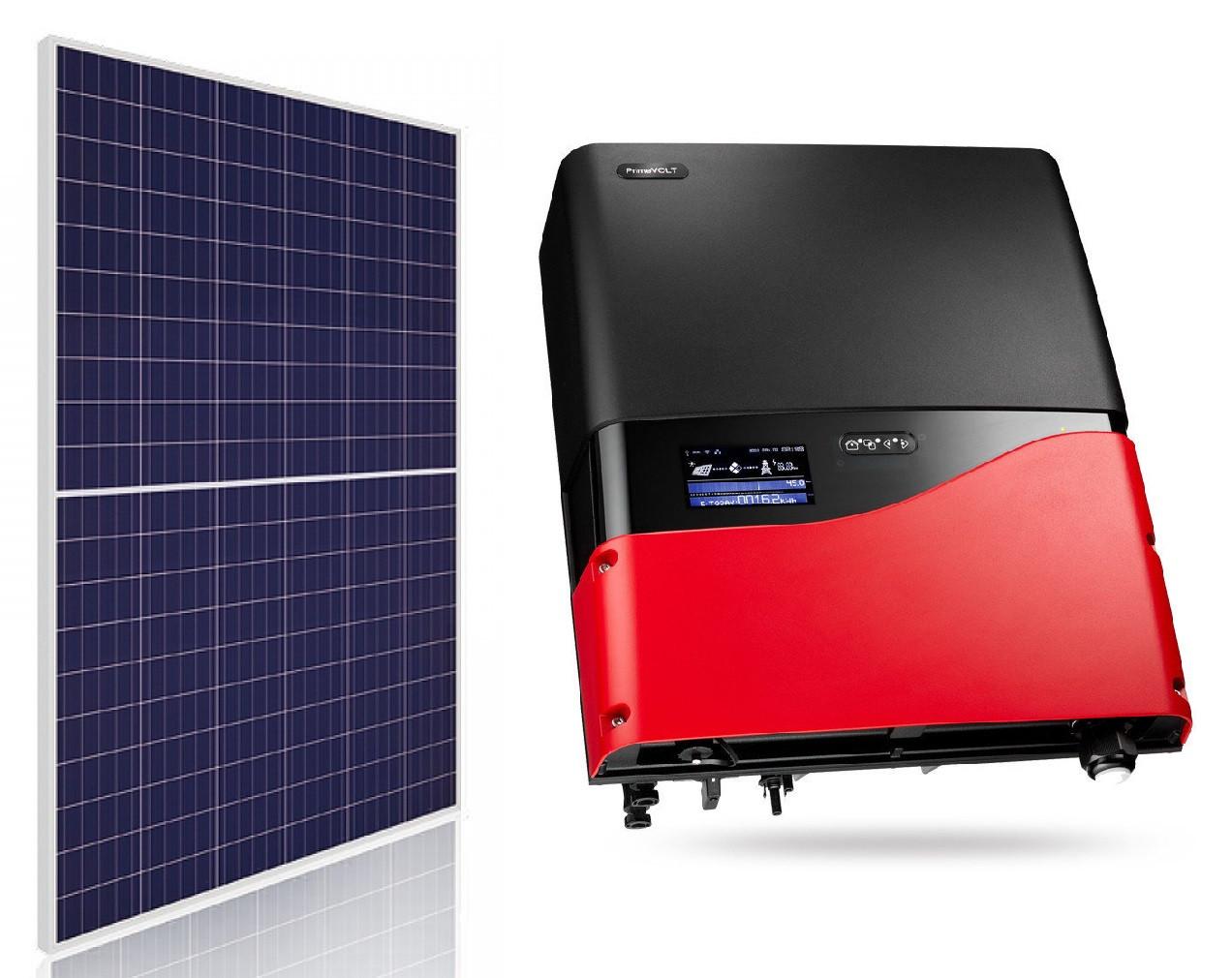 Комплект обладнання для сонячної електростанції 30 кВт (108 ФЕМ ABi-Solar AB280-60PHC + інвертор PrimeVOLT PV-30000T-U)