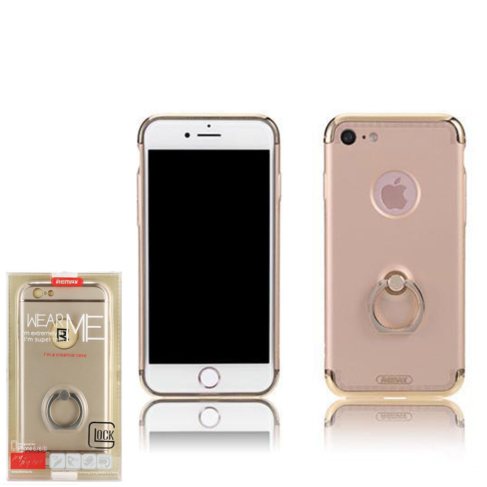 Чехол Remax Lock with Ring iPhone 7 Gold