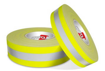 Светоотражающая флуоресцентная лента на тканевой основе - ORALITE FTP 300 50 мм x 100 м