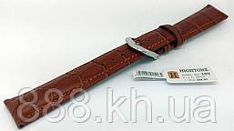 Ремешок для наручных часов кожаный Hightone HT-309 с классической застежкой, коричневый, 18x160 мм