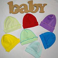 Шапочка для новорожденных в роддом Интерлок | Шапочка для новонароджених в пологовий будинок Інтерлок