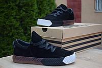 Кроссовки Adidas Alexander Wang женские, черные, в стиле Адидас Александр Ванг, замша, код OD-2850