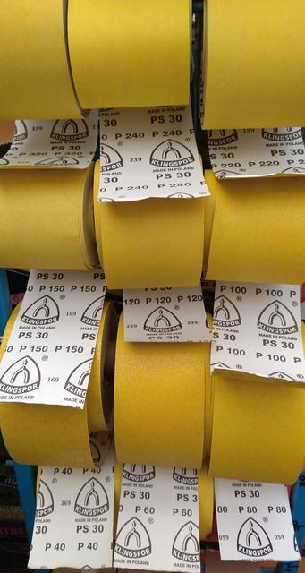 Шлифовальная лента желтая Клингспор