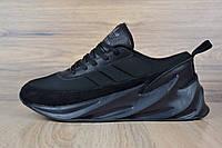 Кроссовки мужские Adidas Shark в стиле Адидас Шарк, текстиль, текстиль код OD-1690. Черные
