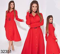 Стильное женское платье миди на пуговицах р. 42,44,46,48, фото 1