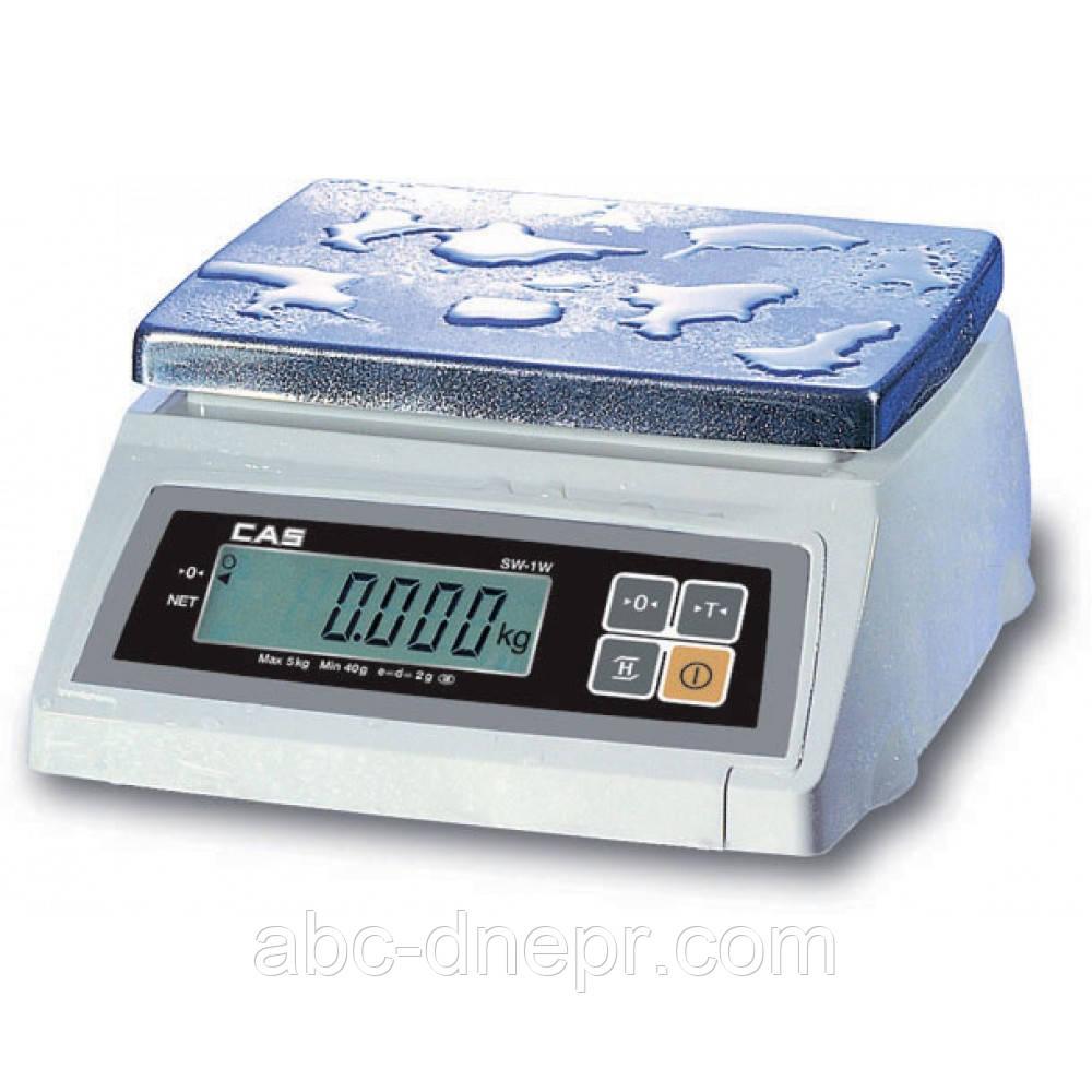 Весы настольные CAS SW-W ( IP66 пыле-влагозащита)