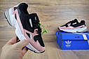 Кроссовки женские Adidas Falcon в стиле Адидас Фалькон, замша, текстиль код OD-2640. Черные с пудрой, фото 6