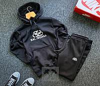 Спортивный костюм ЗИМНИЙ мужской Balenciaga black, фото 1