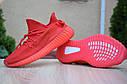 Кроссовки Adidas Yeezy Boost 350 мужские, красные, в стиле Адидас ИзиБуст 350, текстиль, код OD-1874, фото 2