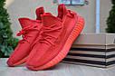 Кроссовки Adidas Yeezy Boost 350 мужские, красные, в стиле Адидас ИзиБуст 350, текстиль, код OD-1874, фото 4