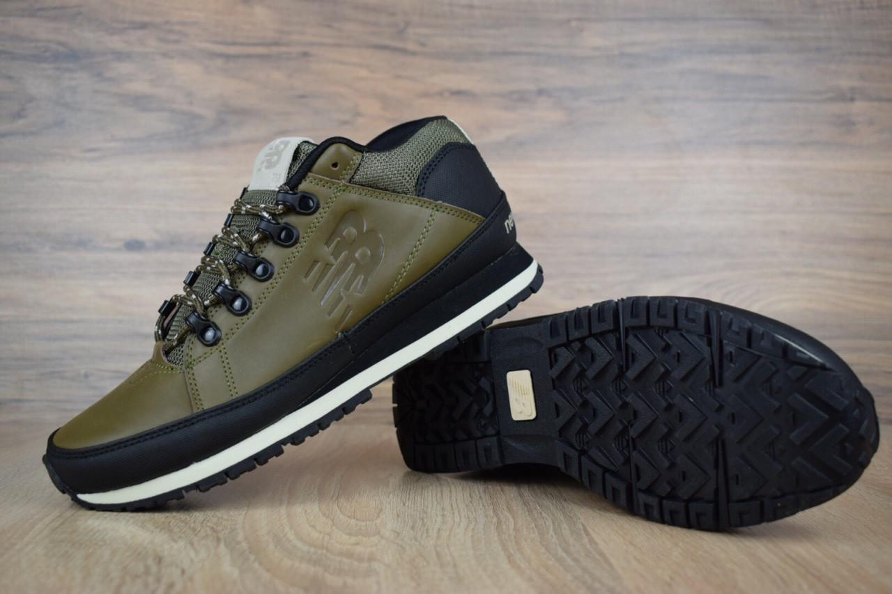 Ботинки New Balance 754 мужские, хаки, в стиле Нью Баланс 754, кожа, код OD-1869