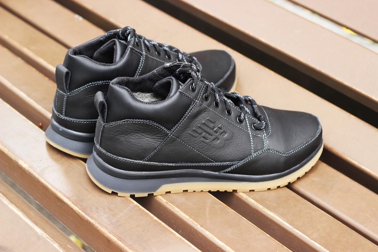 """Зимние кроссовки, ботинки на меху New Balance """"Черные"""""""