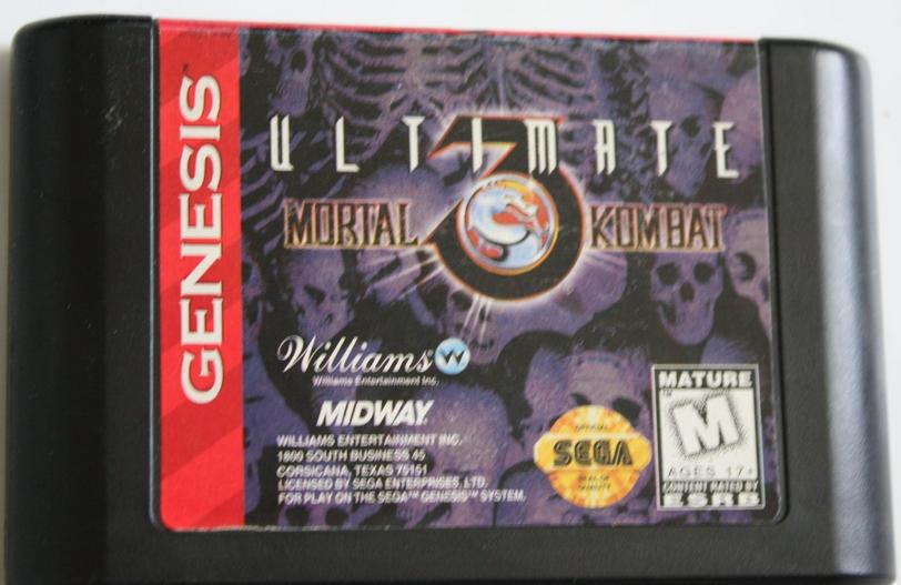 Картридж Ultimate Mortal Kombat 3 Sega Mega Drive 2