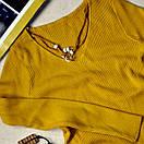 Женская кофточка с кулоном цвет горчица, фото 2