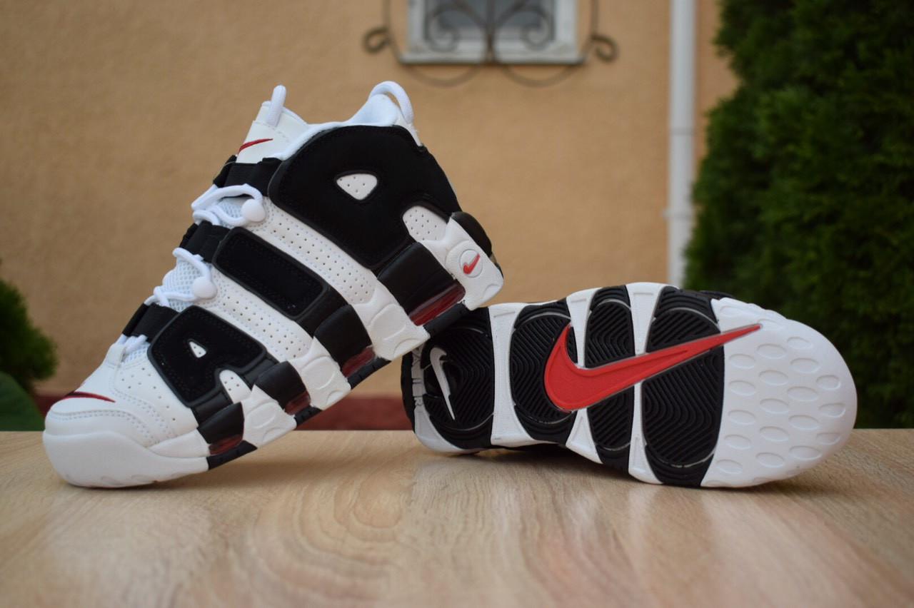 Кроссовки Nike Air More Uptempo женские, белые, в стиле Найк АирМорАптемпо, код OD-2863