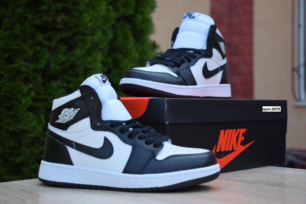Кроссовки Nike Air Jordan 1 Retro High мужские, черно-белые, в стиле Найк Джордан, код OD-1845