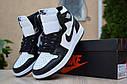 Кроссовки Nike Air Jordan 1 Retro High мужские, черно-белые, в стиле Найк Джордан, код OD-1845, фото 3