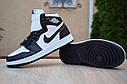 Кроссовки Nike Air Jordan 1 Retro High мужские, черно-белые, в стиле Найк Джордан, код OD-1845, фото 4