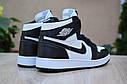Кроссовки Nike Air Jordan 1 Retro High мужские, черно-белые, в стиле Найк Джордан, код OD-1845, фото 5