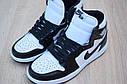 Кроссовки Nike Air Jordan 1 Retro High мужские, черно-белые, в стиле Найк Джордан, код OD-1845, фото 6