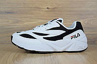 Кроссовки Fila Venom женские, белые с черным, в стиле Фила Веном, материал-кожа, подошва-пена, код OD-2707.