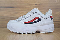 Кроссовки Fila Disruptor 2, белые, в стиле Фила Дизраптор 2, материал-кожа, подошва-пена, код OD-2731.